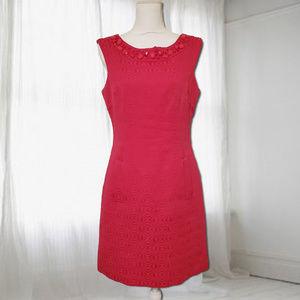 Sandra Darren Sleeveless Embellished Neck Dress